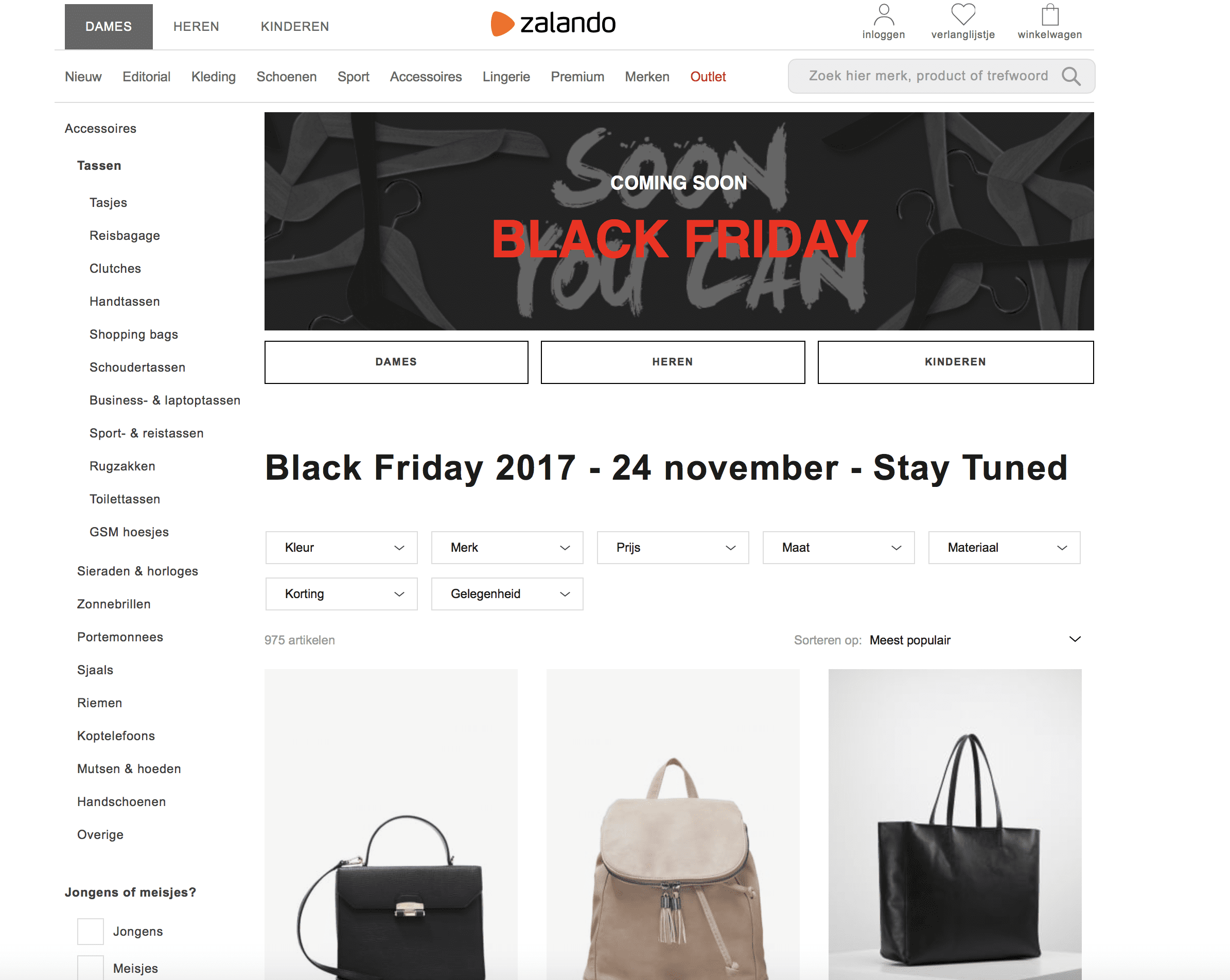Tassen Black Friday